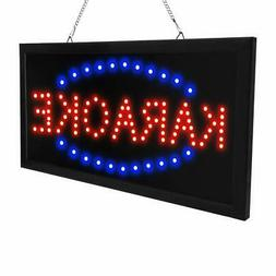 Led Karaoke neon Sign New 19x10x1 inch Indoor Ultra Bright F