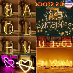LED Letters Neon Sign Night Lights The Arrow & Love Wedding