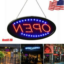LED Neon Light Animated Motion with ON/OFF Flash OPEN Busine