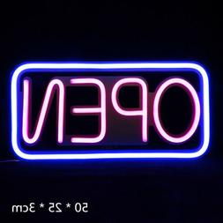 LED Neon Light Hanging Shop OPEN Business Sign Ultra Bright