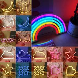 LED Neon Light Sign Night Party Wedding USB/Battery Powered