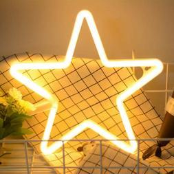 LED Neon Light Signs Star Neon Lights Neon Wall Light Batter