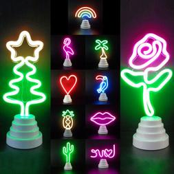 LED Neon Sign Desk Lamp Wall Double Use Night Light Decorati