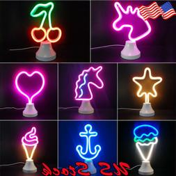 LED Neon Sign Desk Lamp Wall Lamp double use Night Light Neo