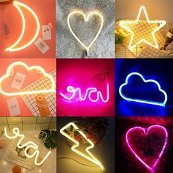 LED Neon Sign Lamp Background Night Light Xmas Wedding Room