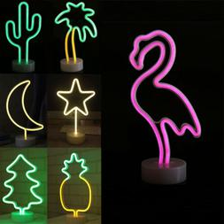 LED Neon Sign Lights Wall Night Light Home Bedroom Party Vis