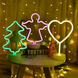 LED Neon Sign Night Light Lamp with Holder Base Art Decor fo