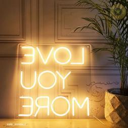 LED Neon wall sign/ Acrylic custom Neon lightning / Bedroom