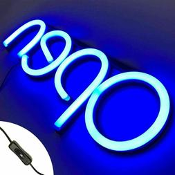 LED Open Business Sign NEON Light Shop Signs Blue 15.7 x 5.9