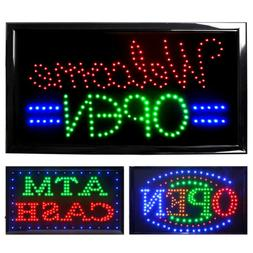 LED OPEN Neon Business Sign Light Animated Motion Bar Flash