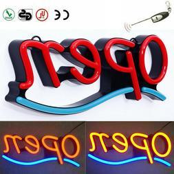 LED Open Sign Rectangular Hang Waterproof Neon Light Outdoor