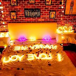 Light Up Letters,Neon Number Sign Wall Decorative Neon Light