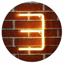 Obrecis Light Up LED Neon Letter Sign Wall Decorative Neon L