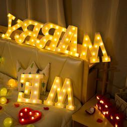 Light Up Letter LED Alphabet PlasticParty Sign Wedding Festi