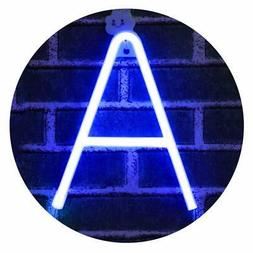 Light Up Letter Neon Signs Blue Letter A Lights Wall Decor f