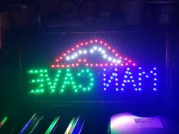 light up man cave neon sign game