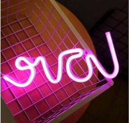 Lighted Pink Love Word Lamp LED Neon Sign Light Wall Hanging