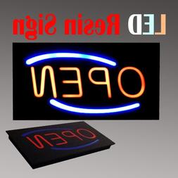 Lighted LED Resin Window Business Sign Open Non Neon Display