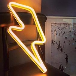 Lightning Bolt Neon Art Sign Lightning LED Neon Signs Handma