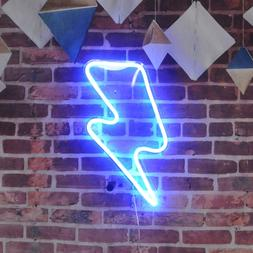 Lightning Bolt Neon Sign Remote Control Lightning Led Neon S