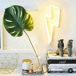 Lightning Bolt Neon Signs Light Led Neon Art Decorative Ligh