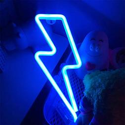 Hopolon Lightning Neon Signs, LED Neon Light Sign for Party