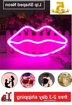 Lip Neon Signs Led Light Art Decorative Lights Wall Decor in