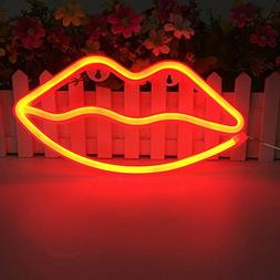 wanxing Lip Shaped Neon Signs Led Neon Light Art Decorative