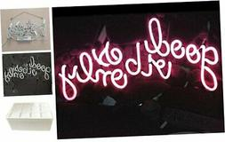 LiQi ' GOOD VIBES ONLY' Real Glass Handmade Neon Wall Signs