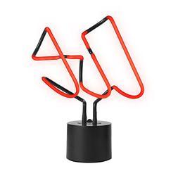 Amped & Co LIT Real Neon Light Novelty Desk Lamp, Large 9.45