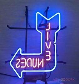 "XPGOODUSA New Live Nudes neon sign-17""×13"" bar Signs fo"