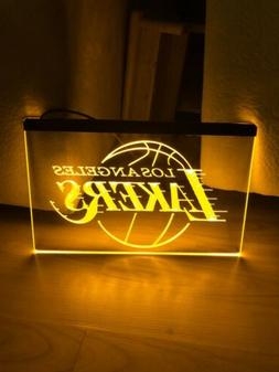 LOS ANGELES LAKERS LED NEON LIGHT SIGN 8x12