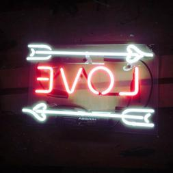 Love Arrow Neon Sign Light Party Weeding Club Home Room Wall