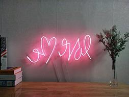 Love Me Real Glass Neon Sign For Bedroom Garage Bar Man Cave