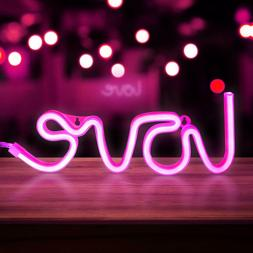 🏆 Love Neon Signs, LED Neon Light for Party Supplies, Gir