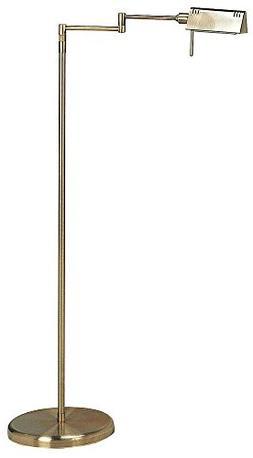 Lite Source LS-960AB Pharma Halogen Floor Lamp, Antique Bras