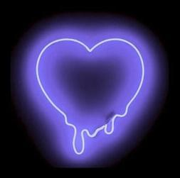 "Make My Heart Melt Purple Acrylic Neon Sign 14"" Bedroom Artw"