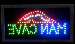 "Man Cave LED Light Up Sign 19.5""x10""x1.25"" for Party Room, B"