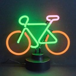 Bicycle neon sign sculpture table lamp Bike shop racing road
