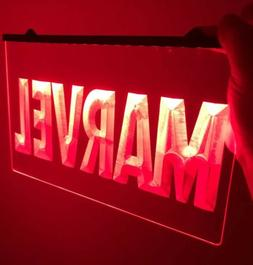MARVEL LOGO Light Neon Sign for Game Room,Office, Man Cave,