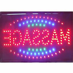 Massage Spa Shop Open Sign Hot Sale 48 X 25 Cm Indoor Ultra