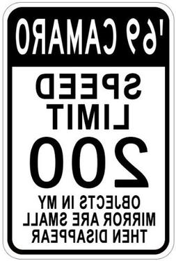 Metal Signs 1969 69 Chevy Camaro Speed Limit Sign - 12 X 18