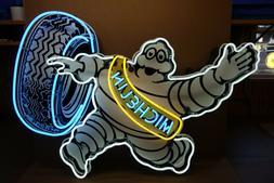 Michelin Bibendum NEON Dealer sign. Steel Enamel neon ART. H