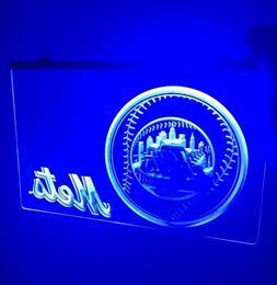 MLB NEW YORK METS LOGO LED Light Sign for Game Room,Office,B
