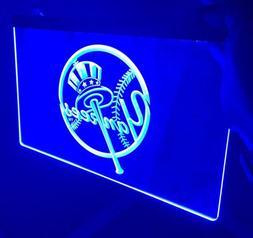 MLB NEW YORK YANKEES LOGO LED Light Sign for Game Room,Offic