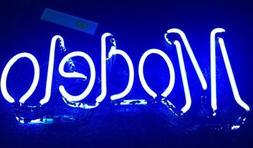 "Modelo Neon Sign Repair Tube 16""x8"" Vintage Mercury End"