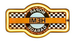Mopar Hemi Garage LED Neon Light Rope Bar Sign, Decor For Ga