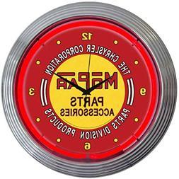 Mopar Vintage Neon Clock in Red