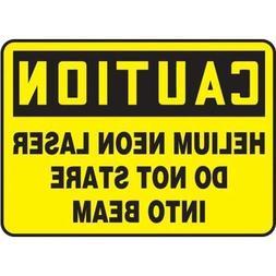 "Accuform MRAD668VP, 10"" x 14"" OSHA Safety Sign""Helium Neon ."