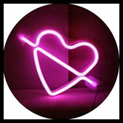 Neon Art Decorative Lights The Arrow Of Love LED Cupid Heart